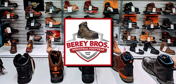 Boots in store with logo